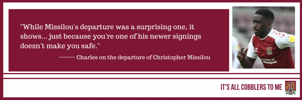 text to the left of a picture of Christopher Missilou